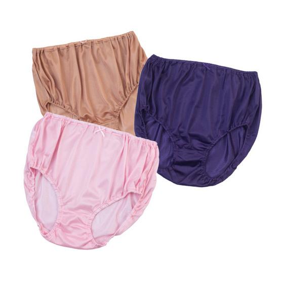 ONONO กางเกงในผ้าไนล่อนคละสี แพ็ค6 - L