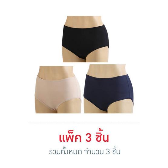 ONONOกางเกงในกุ้นยางเอวสูงคละสี-XL พ.3