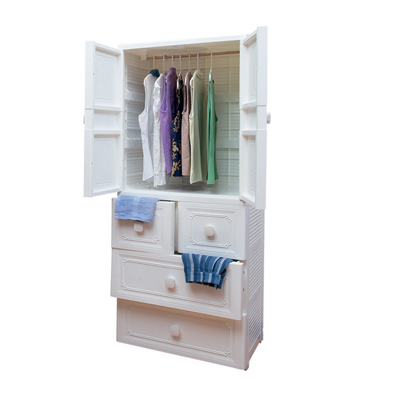 ตู้เสื้อผ้า รุ่น PL-004/4-WH