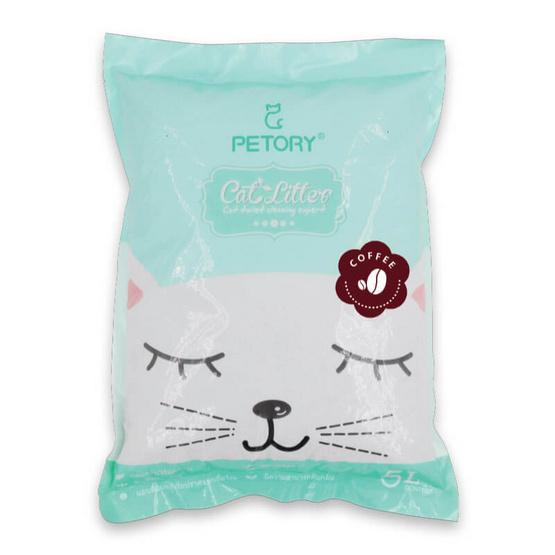 ทรายแมวเบนโทไนซ์ขนาด 5 ลิตร กลิ่นกาแฟ