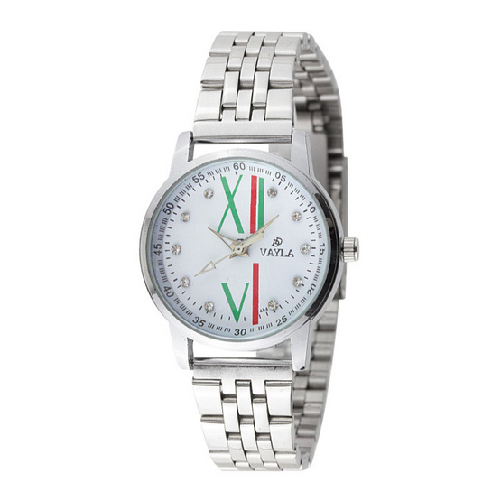 นาฬิกาหญิงสายสแตนเลส รุ่น VAYLA DD-SLV4