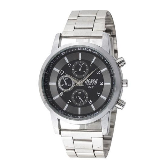นาฬิกาสายสแตนเลส รุ่น BOSCH W1734-SILVER