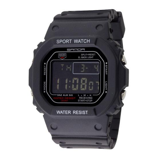 นาฬิกาสาย PU รุ่น SANDA W1205-BLACK