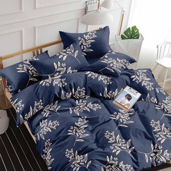 Mamoriชุดผ้าปูที่นอน 6ฟุต 5ชิ้น+นวม ลายใบไม้