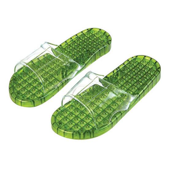 รองเท้านวดคลิสตัลสีเขียว