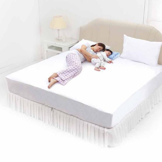 INTEND CARE ชุดแผ่นกันเปื้อนที่นอน ผ้าปู 6 ฟุต + ปลอกหมอน 2 ใบ