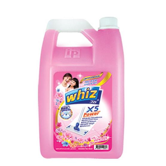วิซ พาวเวอร์ x5 น้ำยาถูพื้น กลิ่นฟลอรัล สีชมพู 2,100 มล.