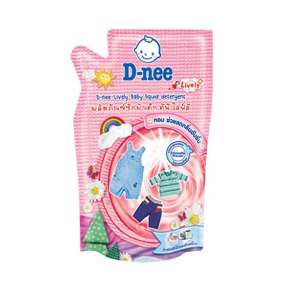 D-nee ผลิตภัณฑ์ซักผ้าเด็ก ไลฟ์ลี่ สีแดง 600 มล. ถุงเติม