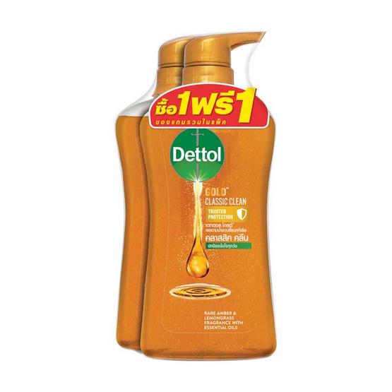 Dettol โกลด์ เจลอาบน้ำ คลาสสิคคลีน 500 มล.