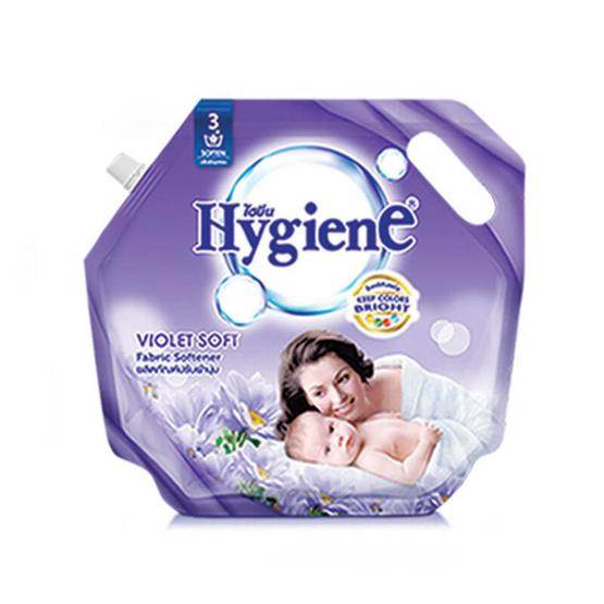 ไฮยีน ผลิตภัณฑ์ปรับผ้านุ่ม กลิ่นไวโอเล็ต ซอฟท์ 1,800 มล. สีม่วง