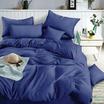 Mamori ชุดผ้าปูที่นอน 5 ฟุต 5 ชิ้น+นวม สีพื้นน้ำเงิน